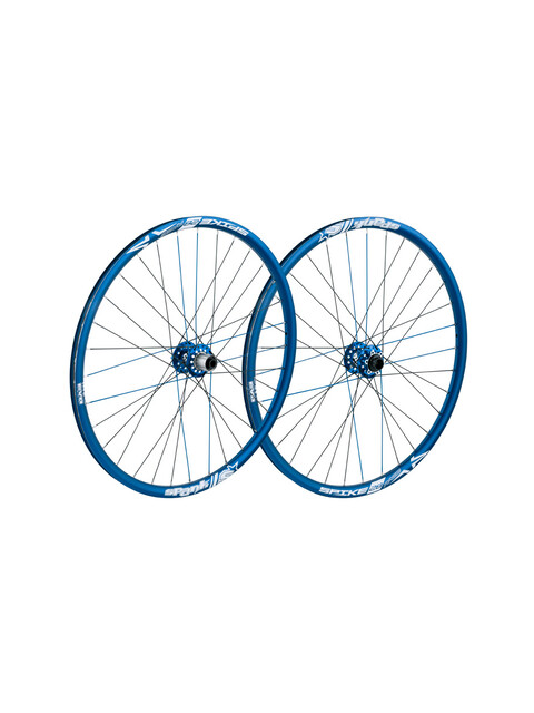 SPANK Spike Race28 EVO paires roues 20mm + 12x135mm blue